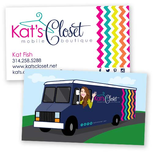 Kats Closet Business Cards