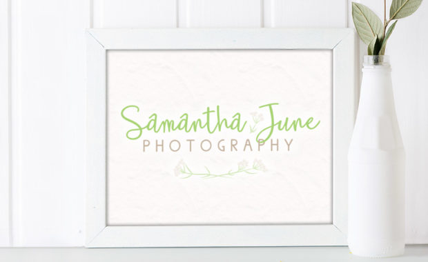 Samantha June Photography Logo Design